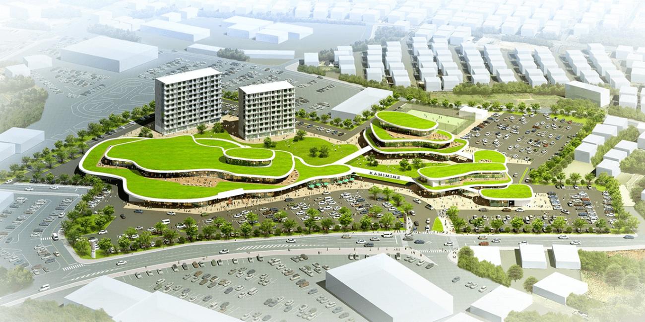 大規模商業施設跡地の開発パース図